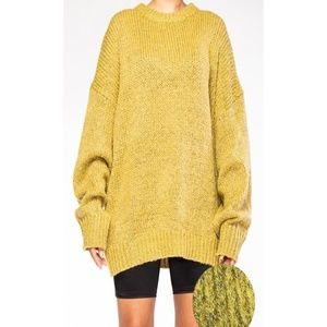 BRAND NEW Yellow Knit Oversize Sweater